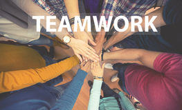 Teamwork, all hands together Royalty Free Stock Photography