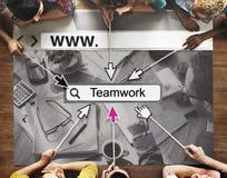 Teamwork Alliance Överenskommelse Företag Team Concept arkivfoto