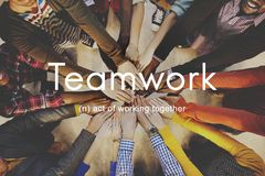 Teamwork Alliance Collaboration Company Team Concept fotografia stock