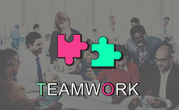 Teamwork Alliance Collaboration Connection Concept. People Teamwork Alliance Collaboration Connection Stock Image