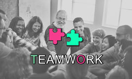 Teamwork Alliance Collaboration Connection Concept. People Having Teamwork Alliance Collaboration Connection Royalty Free Stock Photography