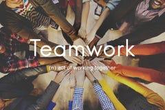 Teamwork Alliance Samarbete Företag Team Concept arkivbild