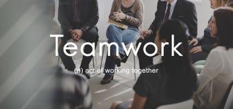 Teamwork Alliance Samarbete Företag Team Concept arkivbilder