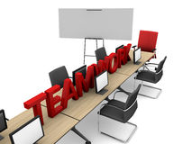 Teamwork And Classroom Royalty Free Stock Photos