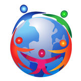 Teamwork around world Stock Photography