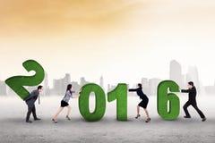 Teamwork arrange numbers 2016 Stock Photo