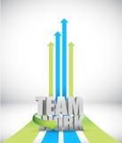 Teamwork arrow illustration design Stock Photos