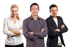 Teamwork and Asian Man With Folded Hands Royalty Free Stock Photos