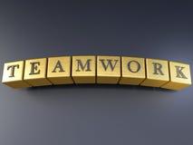 Teamwork auf Blöcken Lizenzfreie Stockfotos