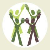 Teamwork-Auslegung. Lizenzfreie Stockfotos