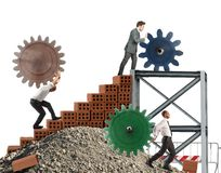 Teamwork av businesspeople Arkivfoto