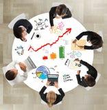 Teamwork av businesspeople Arkivbild
