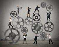 Teamwork av businesspeople arkivfoton