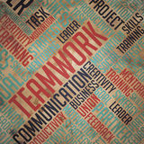 Teamwork Background - Wordcloud Concept. Royalty Free Stock Images