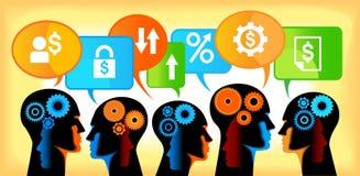 Teamwork-Bankverkehr Lizenzfreies Stockbild