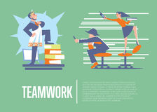 Teamwork banner with business people Royalty Free Stock Images