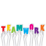 Teamwork banner concept design Stock Photo