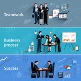 Teamwork Banners Set Stock Photography