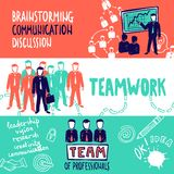 Teamwork Banners Sketch Stock Photography
