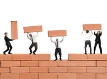 Teamwork baut ein neues Geschäft auf Lizenzfreie Stockfotografie
