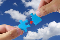 Teamwork baut Träume auf Lizenzfreies Stockbild
