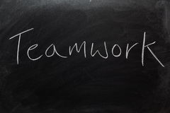Teamwork on Blackboard Stock Images