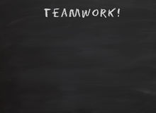Teamwork on blackboard Royalty Free Stock Images