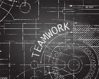 Teamwork Blackboard Machine Stock Photography