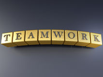 Teamwork on blocks Royalty Free Stock Photos