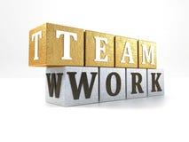 Teamwork on blocks Stock Photo