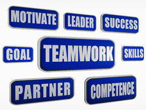 Teamwork - blue business concept Stock Photos