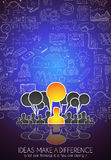 Teamwork Brainstorming communication concept art. Royalty Free Stock Images