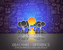 Teamwork Brainstorming communication concept art. Stock Photography