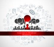 Teamwork Brainstorming communication concept art. Stock Images
