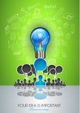 Teamwork-Brainstormingkommunikations-Konzeptkunst Lizenzfreie Stockfotos