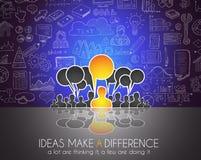Teamwork-Brainstormingkommunikations-Konzeptkunst Stockfotografie