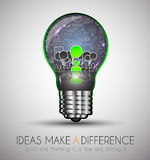 Teamwork-Brainstormingkommunikations-Konzeptkunst Lizenzfreie Stockfotografie