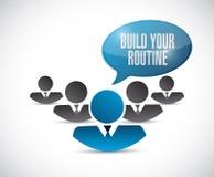 Teamwork. build your routine illustration design Royalty Free Stock Photos