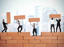Teamwork builds a new business Royalty Free Stock Image