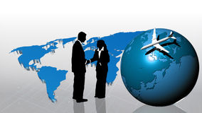 Teamwork in busines concept. Silhouetted concept of  teamwork in busines concept Stock Image