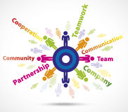 Teamwork busines concept Stock Images