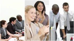 Teamwork Busines panels stock footage