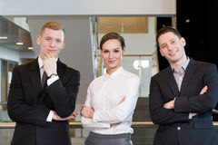 Teamwork in business centre Stock Photos