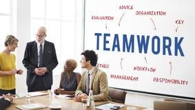 Teamwork Business Company战略营销概念 图库摄影