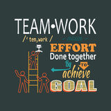 Teamwork business concept lettering Royalty Free Stock Images