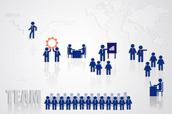 Teamwork for business concept Stock Photography
