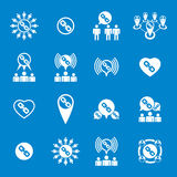 Teamwork and business cooperation theme creative vector icons se Stock Photography