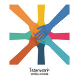 Teamwork and business design. Teamwork concept with business icons design, vector illustration 10 eps graphic Royalty Free Stock Photography