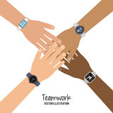 Teamwork and business design Royalty Free Stock Photos