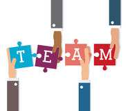 Teamwork and business design Stock Images